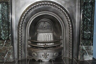 Beautiful Reclaimed Victorian Arch Style Cast Iron Insert (HOTTY1) *INSERT ONLY* • 450£