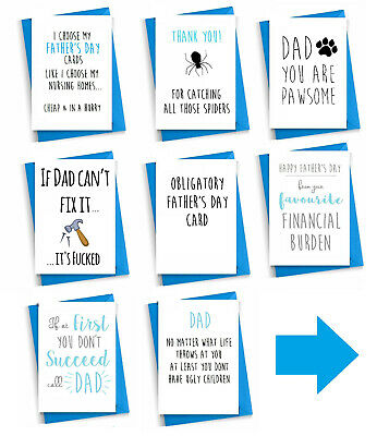 £2.99 • Buy Funny Rude Fathers Day Cards Humour Cheeky From Dog Funny Cards For DAD Father