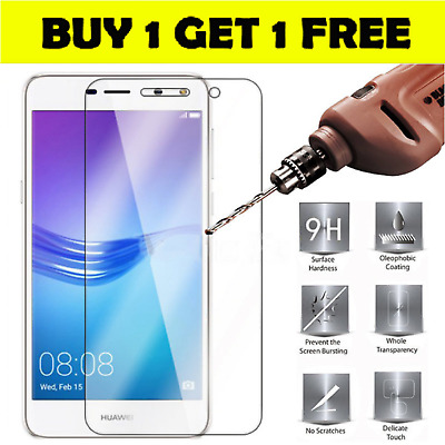 £2.99 • Buy Tempered Glass Screen Protector For Huawei P8 P9 P10 P20 Lite Pro Plus Smart Z