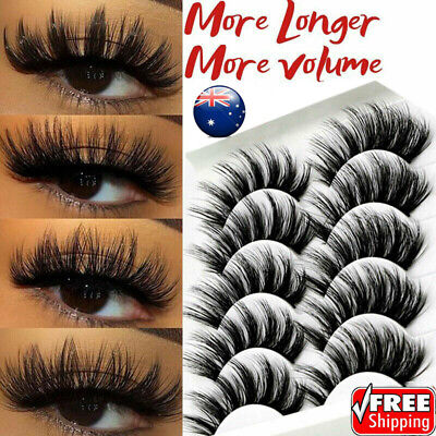 AU10.99 • Buy 5/10Pairs 3D Multipack Mink False Eyelashes Wispy Fluffy Long Natural Eye Lashes