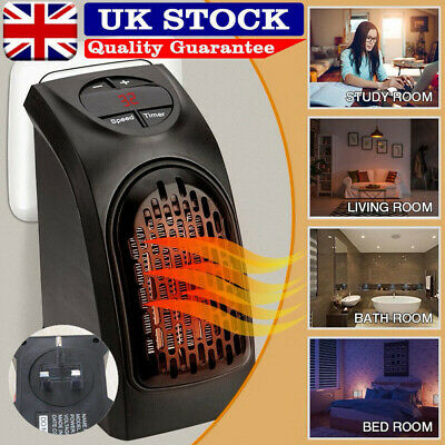 400W 220-240V Mini Furnace Portable Plug-in Electric Wall-outlet Space Heater UK • 22.59£
