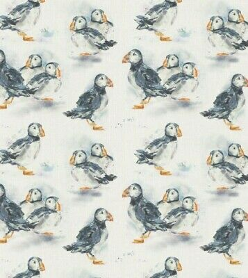 Puffin 100% Cotton Fabric Voyage Curtains Cushions Crafts • 19.99£
