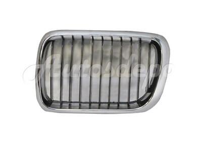 $16.12 • Buy For 1997-1998 Bmw E36 3 Series 318 323 328 M3 Grille Chrome/Black Lh