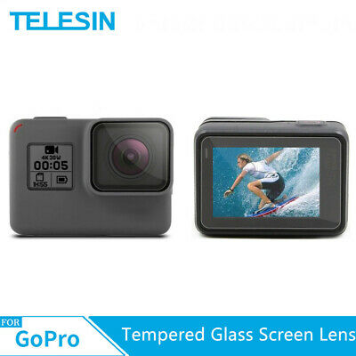$ CDN7.49 • Buy TELESIN Tempered Glass Screen Lens Protector Kit  Cover For GoPro Hero 5 6 7