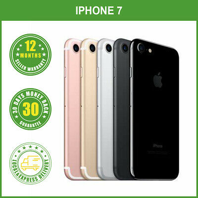 AU367.95 • Buy Apple IPhone 7 32/128/256GB 4G LTE Multi Colours Factory Unlocked In Box