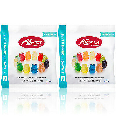 $10.99 • Buy Albanese Sugar Free Gummi Bears Candy 12 Flavors - Fat & Gluten Free 2 PACK