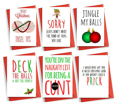 Funny RUDE Christmas Card Cheeky Witty Humour Banter Brother Friend Mum Dad • 2.99£