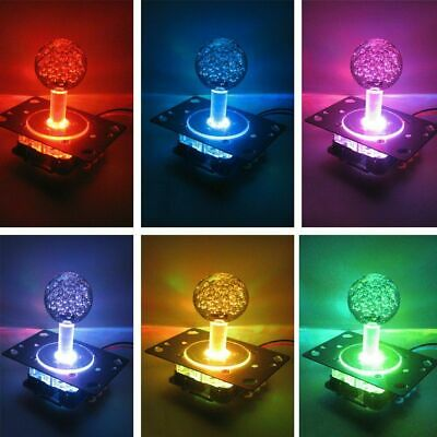 $13.99 • Buy US Arcade LED Illuminated Joystick Colorful Switchable From 4 To 8 Way Operation