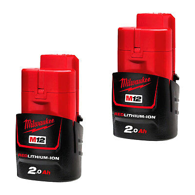 AU119 • Buy Genuine Milwaukee 12V Cordless Red Lithium M12 Battery Pack 2 Ah - AU Stock