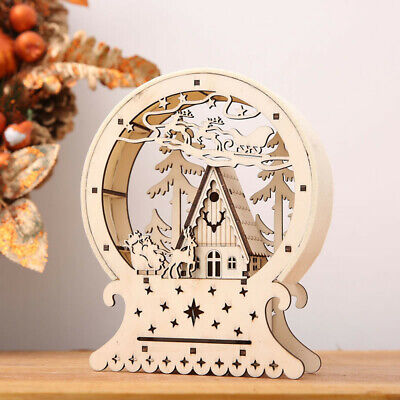 $9.29 • Buy Christmas Light Up Wooden House Reindeer Tree LED Indoor Ornament Decoration US
