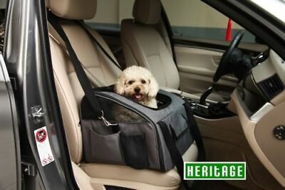 Heritage Luxury Car Seat & Carrier Cat Small Dog Pet Puppy Travel Cage Booster • 17.99£