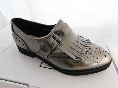 New Sole Diva Size 4 Metalic Pewter Grey Silver Slip On Shoes Ladies Free P&P! • 7.95£