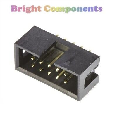 5 Pack - 10 Way IDC Box Header Connector - Straight - 2.54mm - 1st CLASS POST • 1.59£