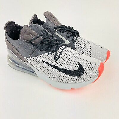 Nike Air Max 270 Flyknit Shoes Atmosphere Grey Black Mens 9.5 AO1023-004 New • 81.95$