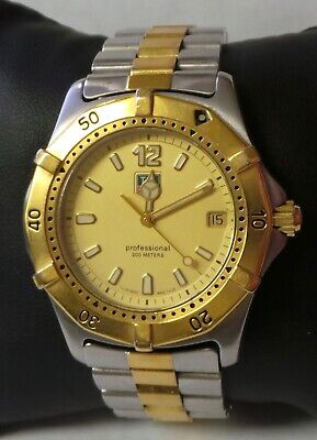 Authentic Men's TAG Heuer 2000 Series Professional Watch WK1121 Gold Dial 37mm • 367.99$