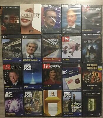 $ CDN65.73 • Buy Lot Of 20 History Channel Biography A&E DVDs Brand New Factory Sealed DVD