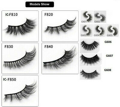 3D Mink Eyelashes 5 Pairs Of Handmade Natural Thick Long Strip False Eye Lash  • 3.99£