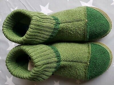 Nanga Hi-Top Wool Slippers EU28 UK10 Green Boy Girl Unisex Haflinger Giesswein  • 10.99£