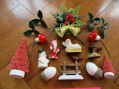 $ CDN34.06 • Buy Vintage Christmas Cake Toppers Decorations Xmas