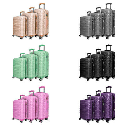 "Light Weight Large 28"" Hard Shell Suitcase 4 Spinner Wheels ABS Luggage Trolley • 39.99£"