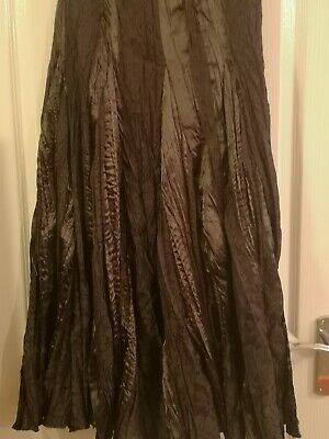 NEXT Long Brown Lace Steampunk Victorian  Gypsy Boho Hippie Maxi Skirt Size 8 • 12£
