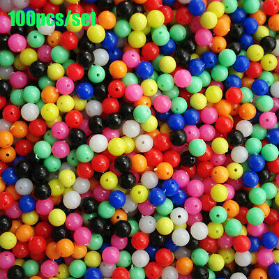 AU7.41 • Buy Color PE Plastic Stoppers Floats Balls Fishing Cross Beads Drill  Double Pearl