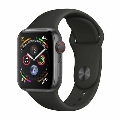 $ CDN433.60 • Buy Apple Watch Series 4 40mm - GPS + Cellular Smartwatch - Space Gray NIKE Band