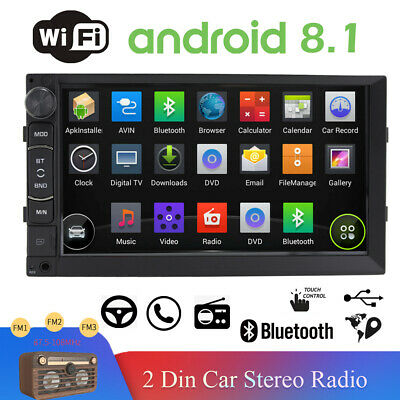 $121.60 • Buy 7'' Double 2DIN Car Radio Video Stereo Mirror Link For GPS Navi Wifi Android IOS