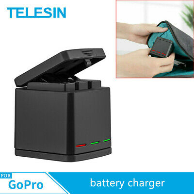 AU17.51 • Buy TELESIN For Gopro Hero 8 7 6 5 3 Slots Travel Charging Box Battery Charger