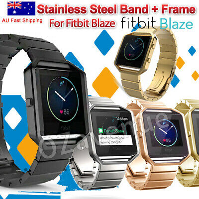 AU20.19 • Buy Fit Fitbit Blaze, Replacement Stainless Steel Band W/ Metal Frame Black, AU