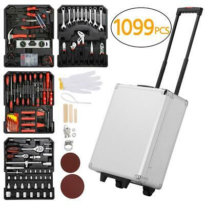 AU120 • Buy 1099pcs Tool Kit Trolley Aluminum Portable Case Mechanics Kit Box DIY Toolbox