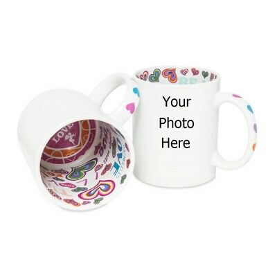 Personalised Photo Mug With Message I Love You Inside • 8.99£