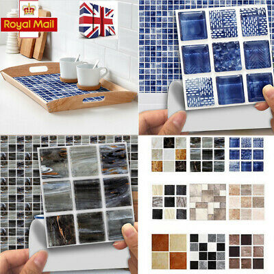 180x Kitchen Tile Stickers Bathroom Mosaic Sticker Self-adhesive Wall Decor C • 6.99£