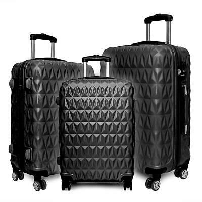 20/24/28  Small Large Suitcase Hard Shell Travel Trolley Hand Luggage • 26.99£