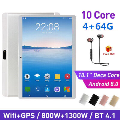 AU125.99 • Buy 10.1 Inch Bluetooth Android 8.0 Tablet 8+512GB Phablet PC Dual Camera IPS WiFi