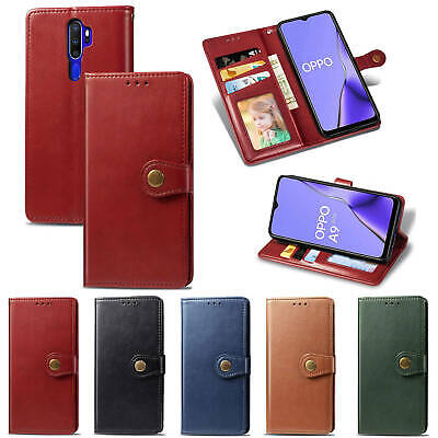 AU17.99 • Buy For Oppo A53 A31 X50 Pro Realme 5 5i C11 C12 C15 6Pro Flip Leather Wallet Case