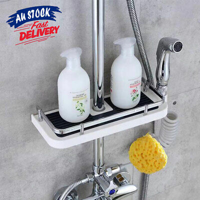 AU19.75 • Buy Shower Caddy Pole No Drills Storage Tray Organiser Bathroom Shelf AU Holder