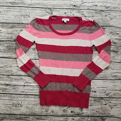 $5.20 • Buy Merona Women's Striped Long Sleeve Sweater Size Medium M