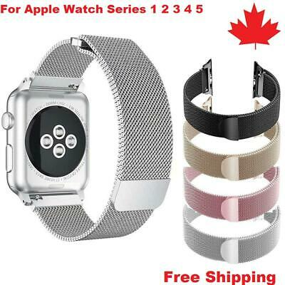 $ CDN11.50 • Buy Magnetic Stainless Milanese Loop Band Strap For Apple Watch Series 1 2 3 4 5