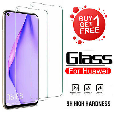 FOR Huawei P20 P30 P40 Pro Lite Protection Tempered Glass Screen Protector NEW • 2.25£