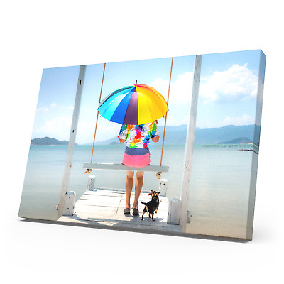 Your Personalised Photo On A3 Ready To Hang Canvas Print - Framed Large Box • 9.99£