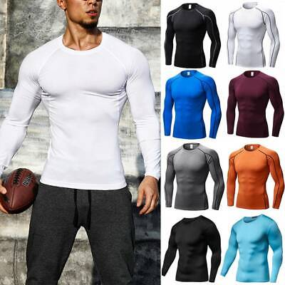 $15.69 • Buy Men's Compression Shirt Thermal Base-Layer Sports Top Long-Sleeve Gym Cool Dry G