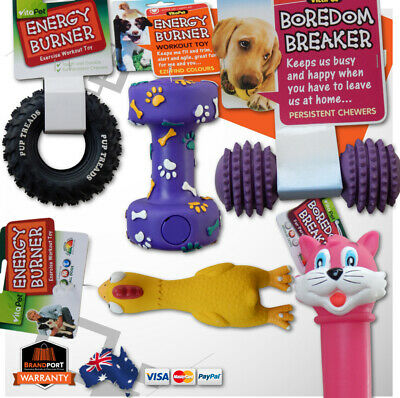 AU14.95 • Buy Dog Puppy Durable Vitapet Toys Select: Chew Energy Burner Squeaky Rubber