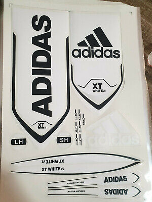 Adidas Xt White V2 Cricket Bat Sticker Brand New What You See Is What You Get • 5.98£