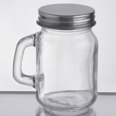 Acopa 4.75 Oz. Mini Mason Jar With Handle And Solid Lid • 21.70£