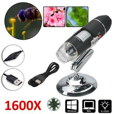 1600X USB Digital LED Magnifier Microscopes Endoscope Camera For Tablet/Laptop • 11.49£