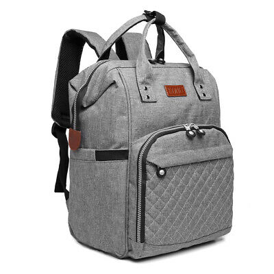 Mummy Changing Bag Baby Diaper Nappy Backpack Multi-Function Hospital Bag Grey • 16.14£