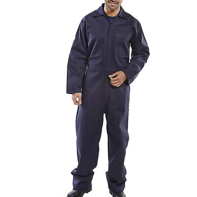 Proban Boilersuit Overalls Coverall Flame Retardant Cotton Drill Welding - Navy • 19.99£