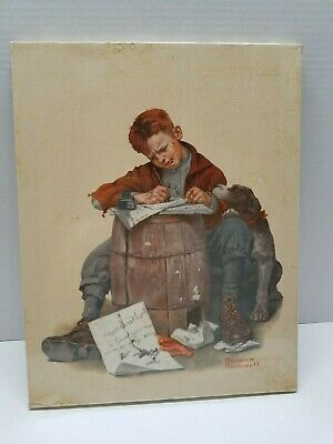 $ CDN60.49 • Buy Norman Rckwell Print On Canvas-The Love Letter January 17,1920
