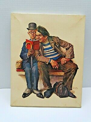 $ CDN47.33 • Buy Norman Rockwell Print On Canvas-The Plot 1970's Printed Lithograph In Canvas